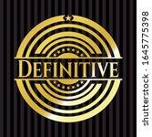 definitive gold shiny badge.... | Shutterstock .eps vector #1645775398