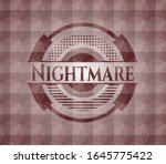 nightmare red seamless badge... | Shutterstock .eps vector #1645775422