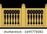 iron wrought fence. arabic... | Shutterstock . vector #1645776082