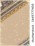 arabic floral template.... | Shutterstock . vector #1645777405