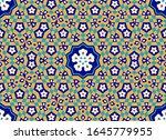 arabic floral seamless pattern... | Shutterstock . vector #1645779955