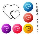 black line heart icon isolated... | Shutterstock .eps vector #1645780225