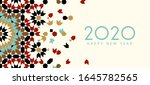 new year 2020 greeting card | Shutterstock . vector #1645782565