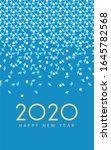 new year 2020 greeting card | Shutterstock . vector #1645782568