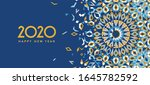 new year 2020 greeting card | Shutterstock . vector #1645782592