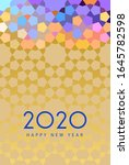 new year 2020 greeting card | Shutterstock . vector #1645782598