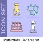 set test tube and flask... | Shutterstock .eps vector #1645786705