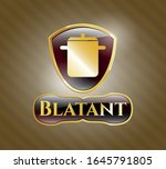 gold badge or emblem with... | Shutterstock .eps vector #1645791805