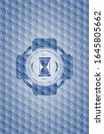hourglass icon inside blue... | Shutterstock .eps vector #1645805662