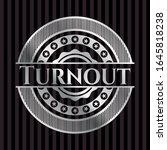turnout silvery shiny badge.... | Shutterstock .eps vector #1645818238