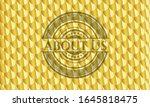 about us golden badge or emblem.... | Shutterstock .eps vector #1645818475