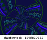 a hand drawing pattern made of... | Shutterstock . vector #1645830982