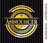 announcer gold badge or emblem. ... | Shutterstock .eps vector #1645831822