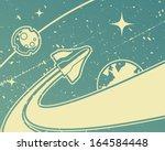 spacecraft retro space theme...