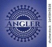 angler badge with denim... | Shutterstock .eps vector #1645845838