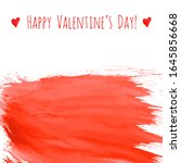 happy valentine's day  red... | Shutterstock .eps vector #1645856668