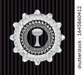tree icon inside silvery badge... | Shutterstock .eps vector #1645860412