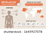 2019 ncov symptoms and... | Shutterstock .eps vector #1645927078