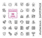 business icon set   web  symbol ... | Shutterstock . vector #1645939618
