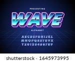 retro futuristic 80s font style.... | Shutterstock .eps vector #1645973995