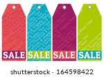 color christmas labels with... | Shutterstock .eps vector #164598422