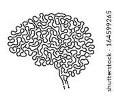 Stock vector brain maze 164599265