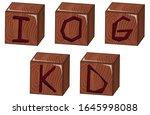 bricks vector illustration on... | Shutterstock .eps vector #1645998088