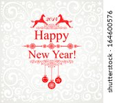 happy new year 2014  year of...   Shutterstock .eps vector #164600576