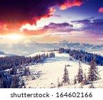 fantastic morning mountain... | Shutterstock . vector #164602166