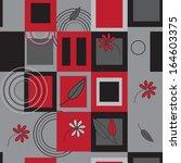 pattern abstract geometric... | Shutterstock . vector #164603375