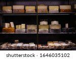 French Cheese On Market Counter