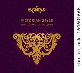 vector baroque ornament in... | Shutterstock .eps vector #164604668