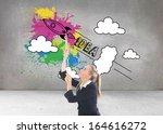 composite image of blonde... | Shutterstock . vector #164616272