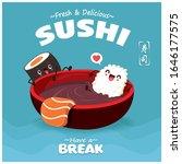 vintage sushi poster design... | Shutterstock .eps vector #1646177575