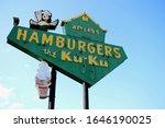 Small photo of Miami, Oklahoma - June 13 2015: The neon sign at Waylan's Ku-Ku Burger on Route 66.