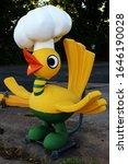 Small photo of Miami, Oklahoma - June 13 2015: The bird mascot at Waylan's Ku-Ku Burger on Route 66.