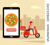 online food order and food... | Shutterstock .eps vector #1646211142