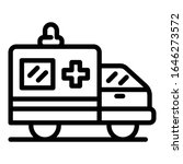 ambulance car icon. outline... | Shutterstock .eps vector #1646273572