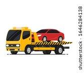 tow truck with broken car.... | Shutterstock .eps vector #1646284138
