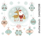 christmas graphic elements | Shutterstock .eps vector #164630288