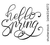 lettering hello spring   black... | Shutterstock .eps vector #1646314072