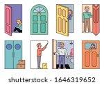 doors of different styles. open ... | Shutterstock .eps vector #1646319652