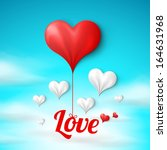 valentine's card template ...   Shutterstock .eps vector #164631968
