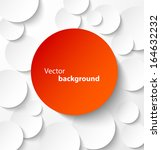 red paper circle banner with... | Shutterstock .eps vector #164632232
