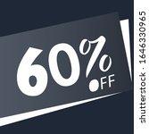60  off. discount sales... | Shutterstock .eps vector #1646330965