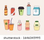 a variety of drinks sold at... | Shutterstock .eps vector #1646345995