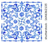 azulejos   portuguese dutch and ... | Shutterstock .eps vector #1646362135