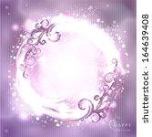 festive glittering round frame. ... | Shutterstock .eps vector #164639408