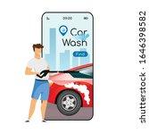 car wash cartoon smartphone...