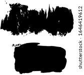 vector set of grunge artistic... | Shutterstock .eps vector #1646419612